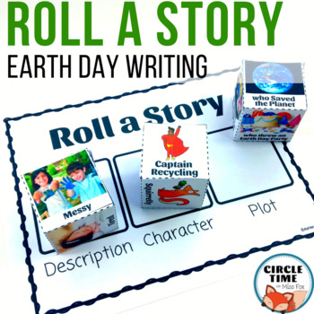 Story Cubes Earth Day Center, Earth Day Writing Prompts, Earth Day Prompts