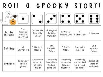 Roll-a-Story {Halloween!} **Freebie**