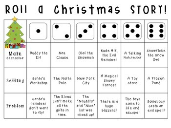 Roll-a-Story: Primary Level Creative Writing Activity {Christmas!}