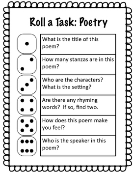 Roll a Task Poetry