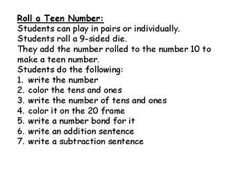 Roll a Teen Number