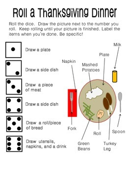 Roll a Thanksgiving Dinner (Holiday Dice Game)