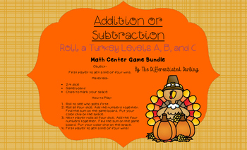 Roll a Turkey Game Board Bundle