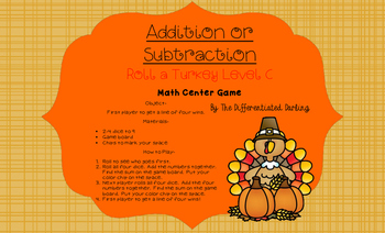 Roll a Turkey Game Board C