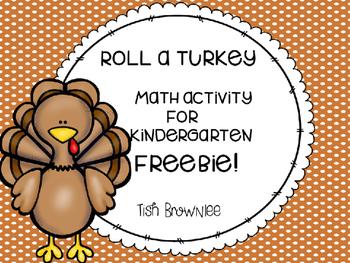 Roll a Turkey Math Activity Freebie