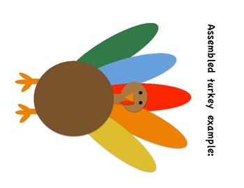 Roll a Turkey Thanksgiving Math Center