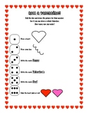 Roll a Valentine Worksheet