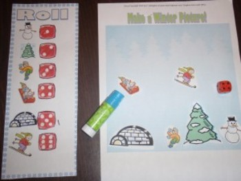 Roll a Winter Scene Dice Game