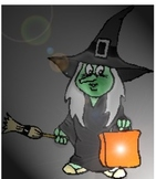 Roll a Witch Halloween Holiday Math Game