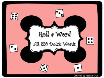 Roll a Word ~ All 220 Dolch Words