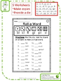 Roll a Word: Beginning Blends (first/second grades)