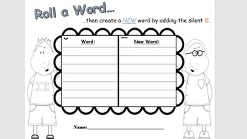 Roll a Word - CVC to VCe words