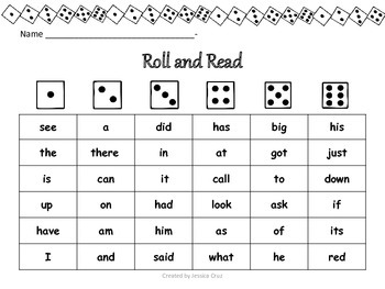 Roll a Word Imagine It - First Grade