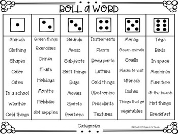 Roll-a-Word Language Edition