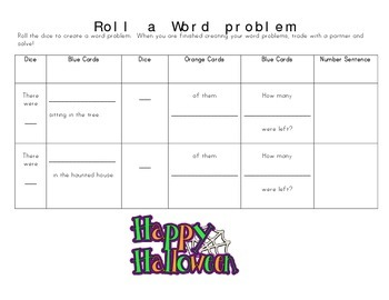 Roll a Word Problem