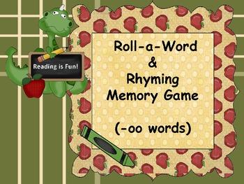 Roll-a-Word & Rhyming Memory Game (-oo) Words