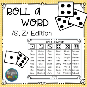 Roll-a-Word /S/ & /Z/ Edition