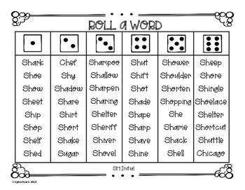 Roll-a-Word /SH/ Edition