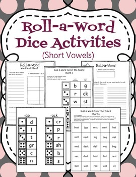 Roll-a-Word (Short Vowels)