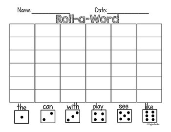 Roll-a-Word Sight Word Activity!