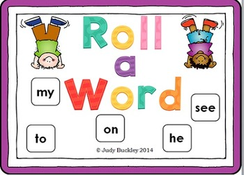 Sight Word Roll a Word Games