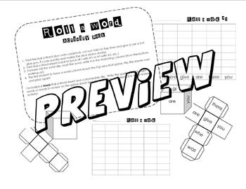 Roll a Word (Sight Word, Spelling and Customizable Word activity)