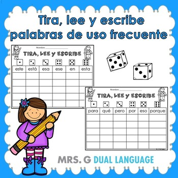 Roll, Read and Write Spanish High Frequency Words