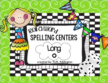 Roll a Word Spelling Centers: Long O
