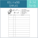 Roll a Word: Vocabulary Practice