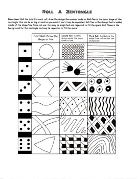 Roll a Zentangle with Pre-Drawn Designs