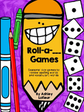 Roll-a-___Games: Seasonal Spelling & Vocabulary Dice Review Games