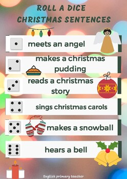 Roll a dice Christmas sentences