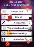 Roll a dice Christmas sentences