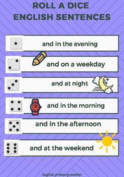 Roll a dice english sentences vol. II