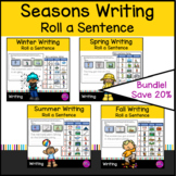Roll a story or sentence Spring Summer Winter Fall addition