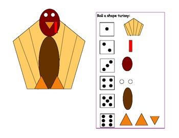 Roll a shape turkey