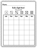 Roll a sight word- A Fox and a Kit
