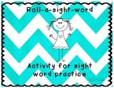 Roll-a-sight-word Literacy Center Work