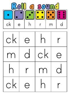 Roll a sound ck, e, h, r, m, d
