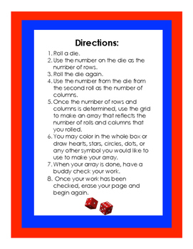 Roll an Array: A Mathematical Dice Game