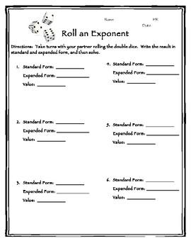 Roll an Exponent