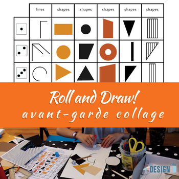 Roll an avant-garde collage! - abstract art - letter size