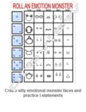 Roll an emotion monster