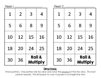 Roll and Add / Multiply