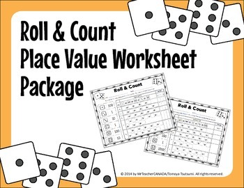 Roll and Count - Place Value Worksheets (Activity with Dic