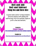 Roll and Add / Roll and Subtract Centers Updated!