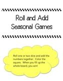 Roll and Add Seasonal Dice Games