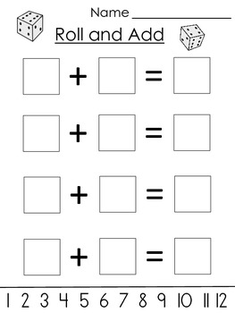 Roll and Add Sheets (Differentiated)