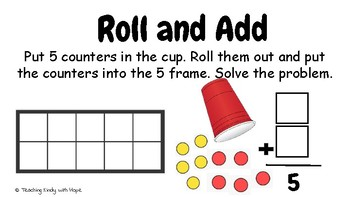 Roll and Add to 5 (Addition)