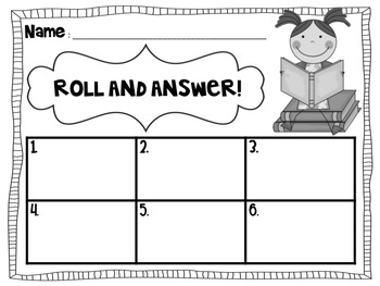 Roll and Answer: A Literacy Center